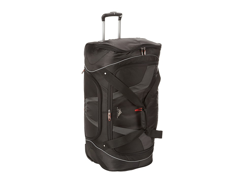 High Sierra - AT7 30 Wheeled Cargo Duffel (Black) Duffel Bags