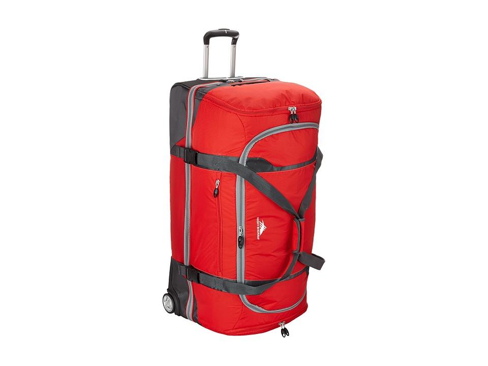 High Sierra Sportour 34 Drop Bottom Wheeled Duffel Red/Mercury/Black/Ash Weekender/Overnight Luggage