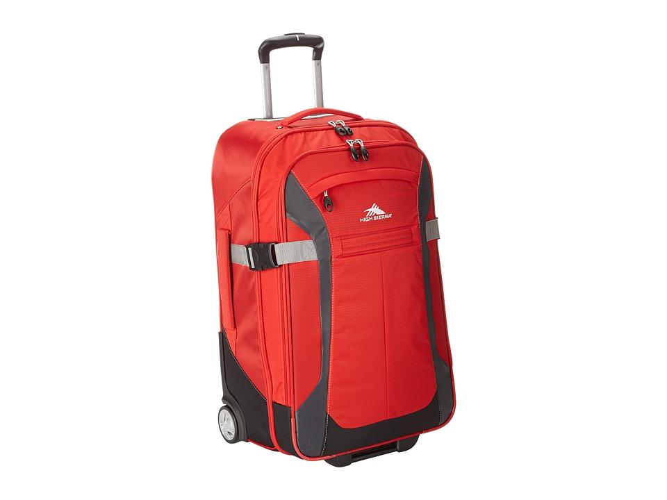 High Sierra Sportour 25 Wheeled Upright Red/Mercury/Black/Ash Pullman Luggage