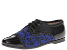 Venettini Kids 55-Elane (Little Kid/Big Kid) (Black Pearlized Leather/Cobalt Cheetah Pony)