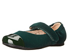 Venettini Kids 55-Dixie (Toddler/Little Kid) (Green Patent/Green Velvet)