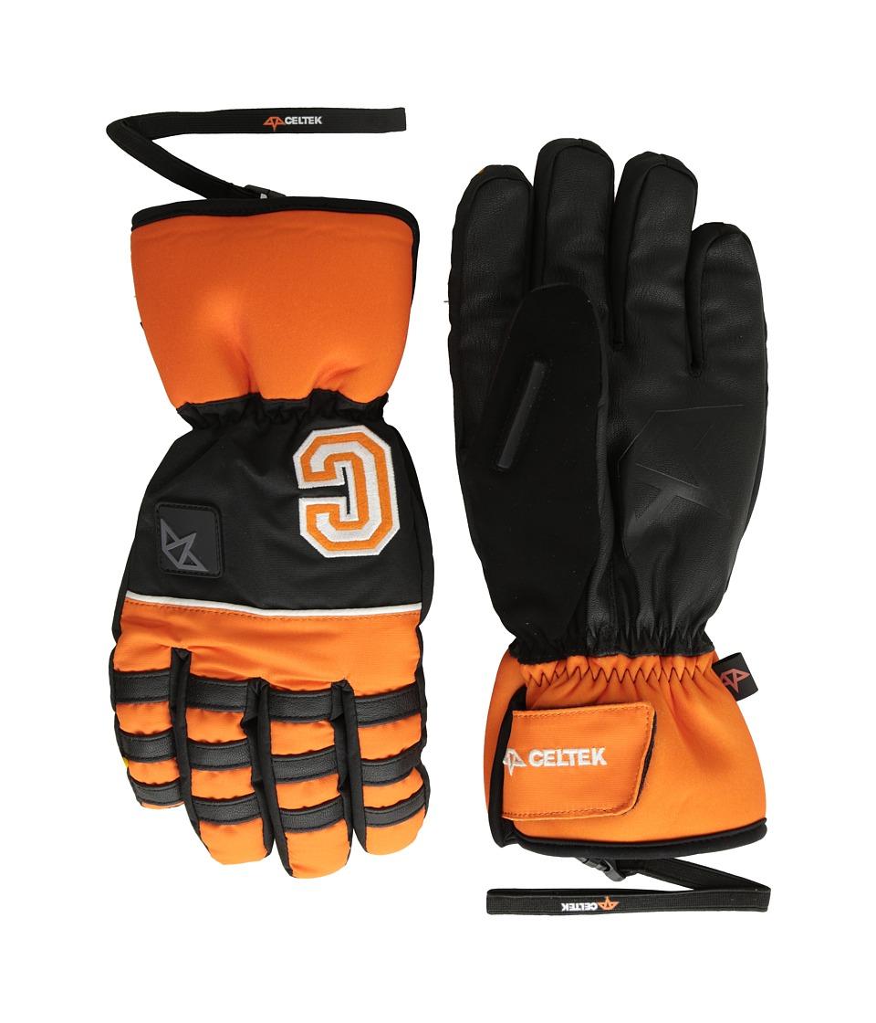 Celtek Ace Gloves Orange Snowboard Gloves