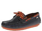 Venettini Kids - 55-Scott (Toddler/Little Kid) (Navy Crinkled Leather/Rust Crinkled Leather)