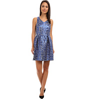 kensie - Nubbly Lurex Jacquard Dress