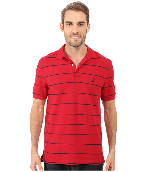 Nautica Striped Performance Deck Polo Shirt