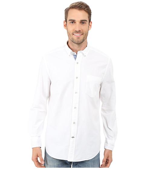 Nautica Solid Oxford L/S Woven Shirt - Bright White