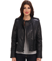 Vince Camuto - Leather Asymmetrical Moto Jacket – G8951