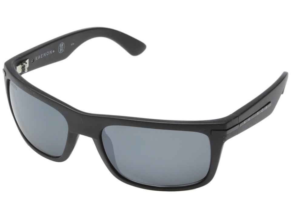 Kaenon Burnet Matte Black/Grey Mirrored G12M Sport Sunglasses