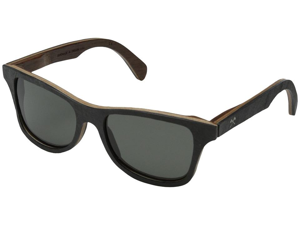 Shwood Canby Stone Collection Polarized Black Slate Grey Polarized Sport Sunglasses