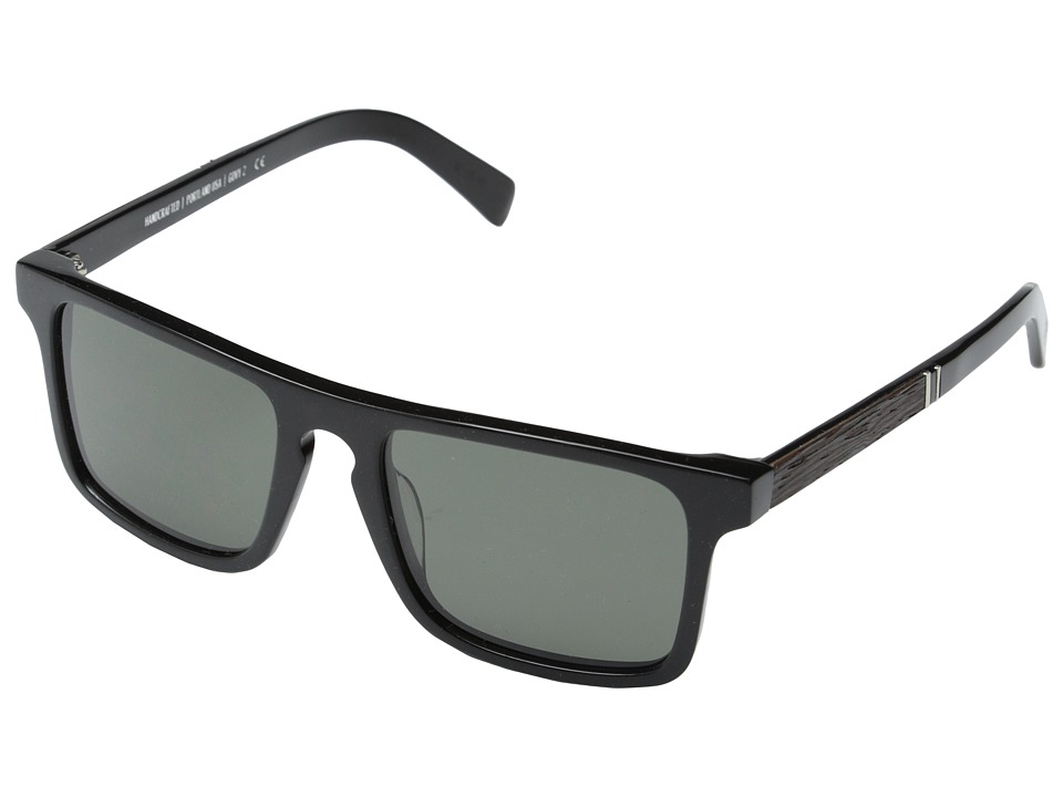 Shwood Govy Fifty Fifty 2 Polarized Black // Ebony Grey Polarized Sport Sunglasses