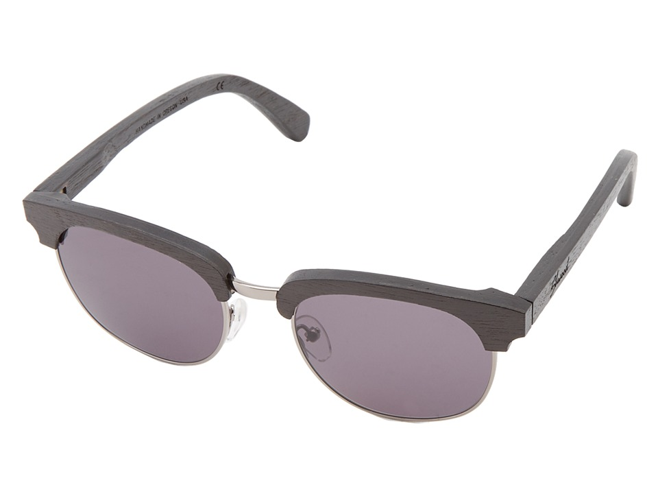 Shwood Eugene Dark Walnut Silver Grey Sport Sunglasses