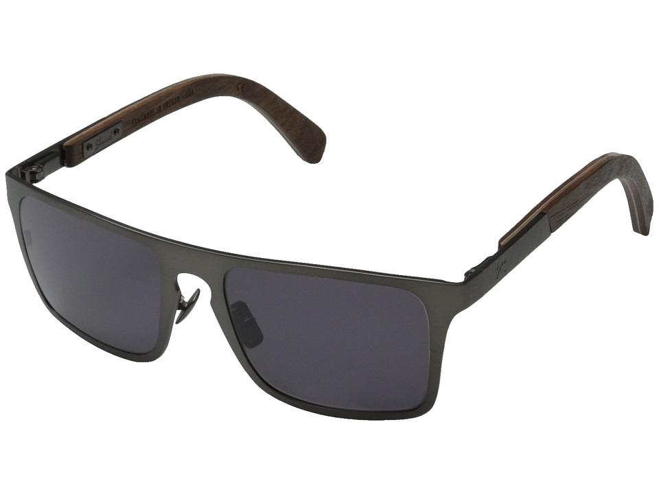 Shwood Govy Titanium 2 Gun Metal Titanium// Walnut Grey Sport Sunglasses