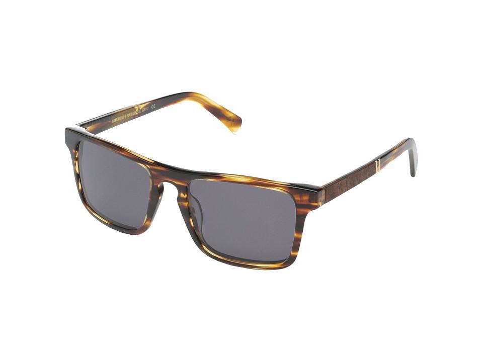Shwood Govy 2 Tortoise shell // Mahogany Burl Grey Sport Sunglasses