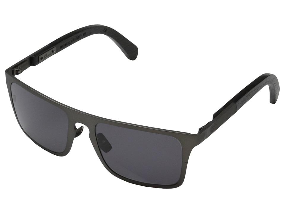 Shwood Govy Titanium 2 Gun Metal Titanium// Dark Walnut Grey Sport Sunglasses