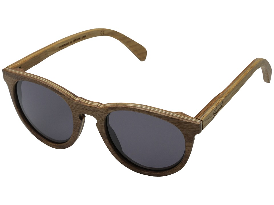 Shwood Belmont Walnut/Oak Temple Grey Sport Sunglasses