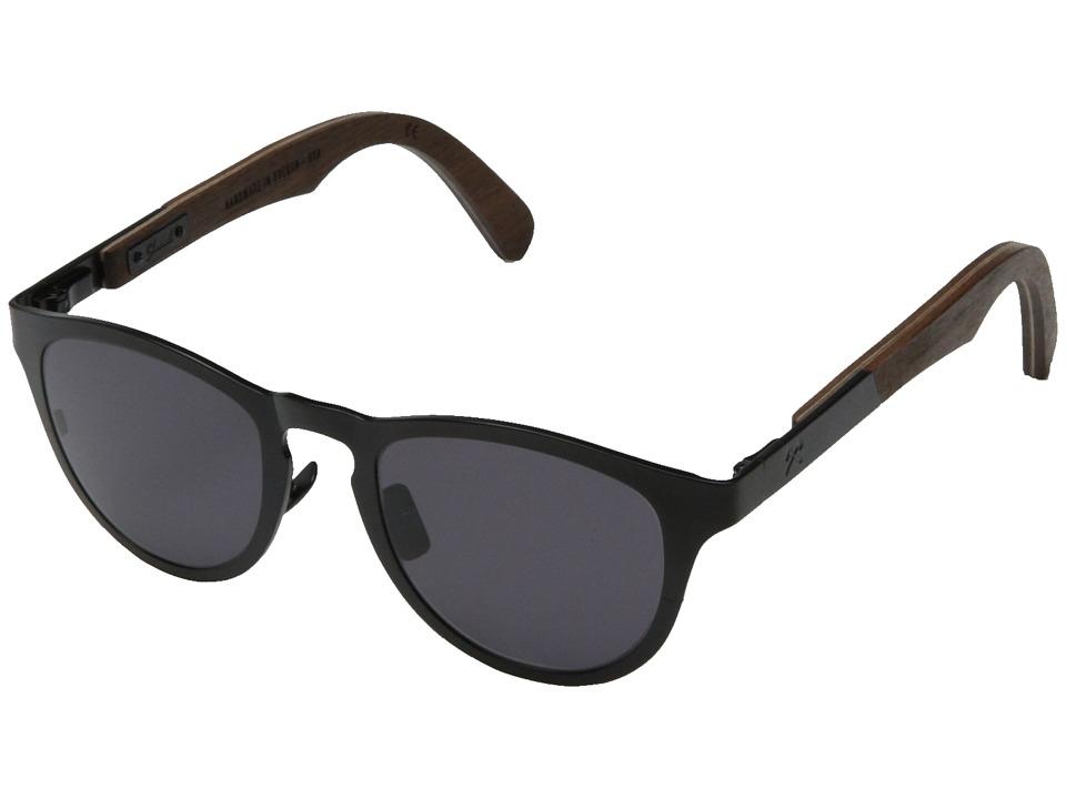 Shwood Francis Black Titanium// Walnut Grey Sport Sunglasses