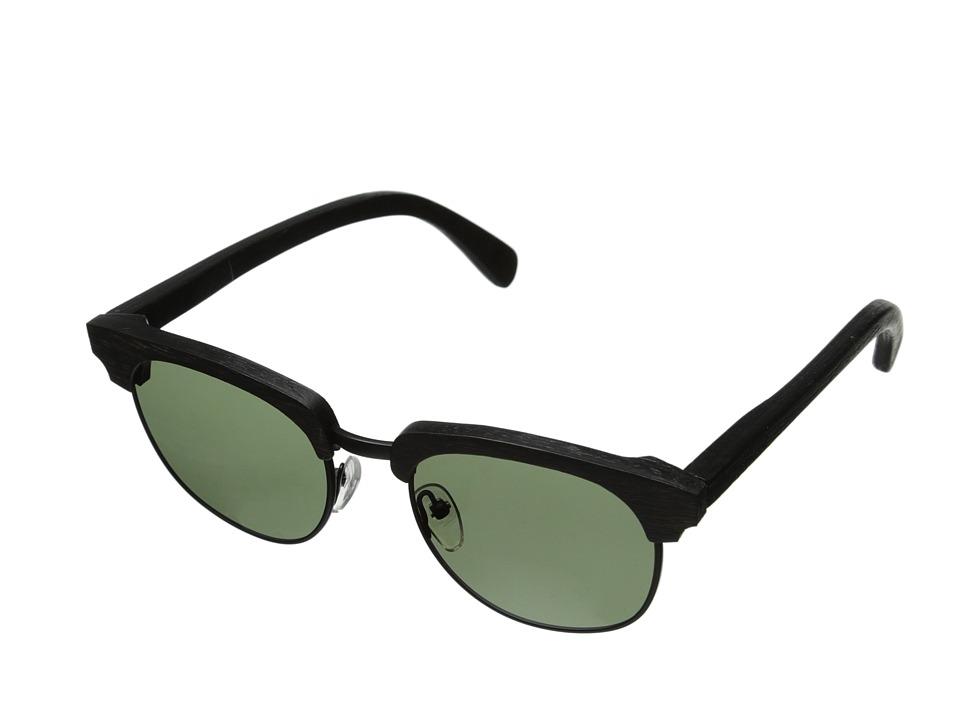 Shwood Eugene Polarized Dark Walnut Black G15 Polarized Sport Sunglasses