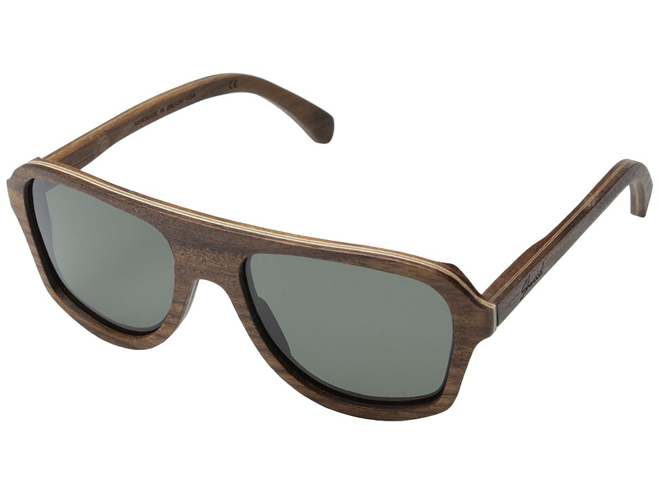 Shwood Ashland Polarized Walnut Grey Polarized Sport Sunglasses