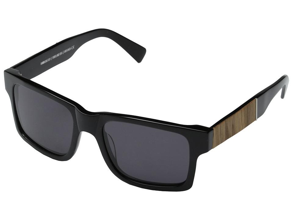 Shwood Haystack Fifty Fifty Black // Oak Grey Sport Sunglasses