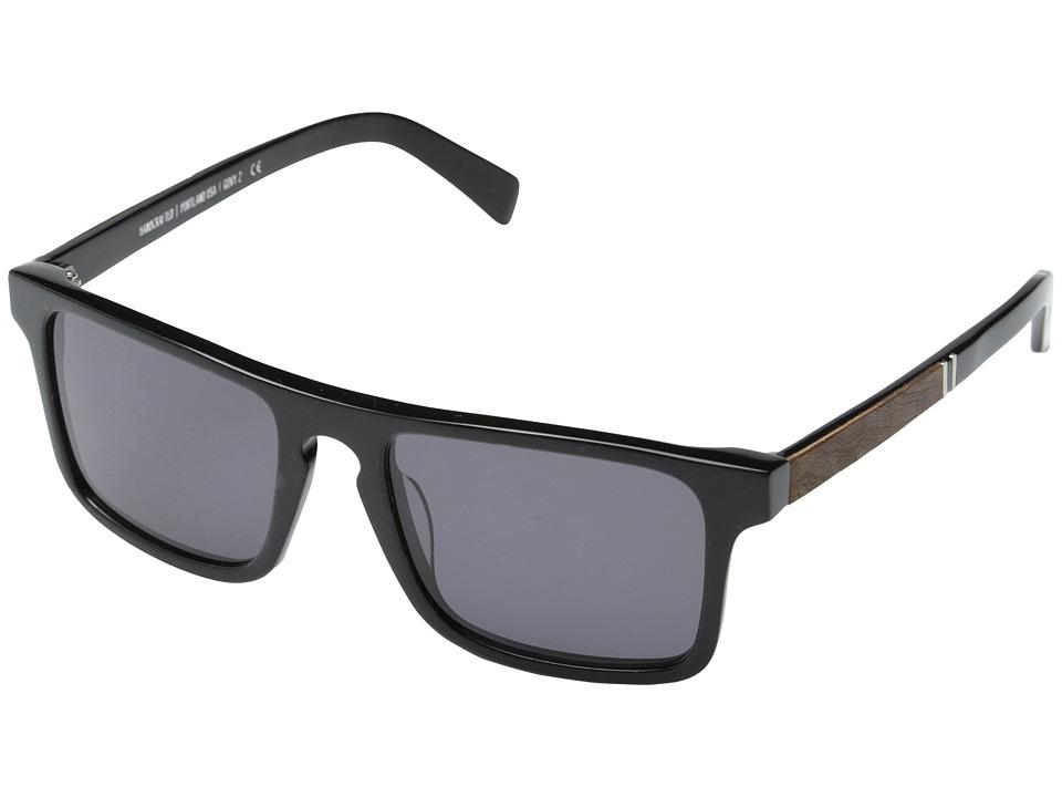 Shwood Govy 2 Black // Elm Burl Grey Sport Sunglasses