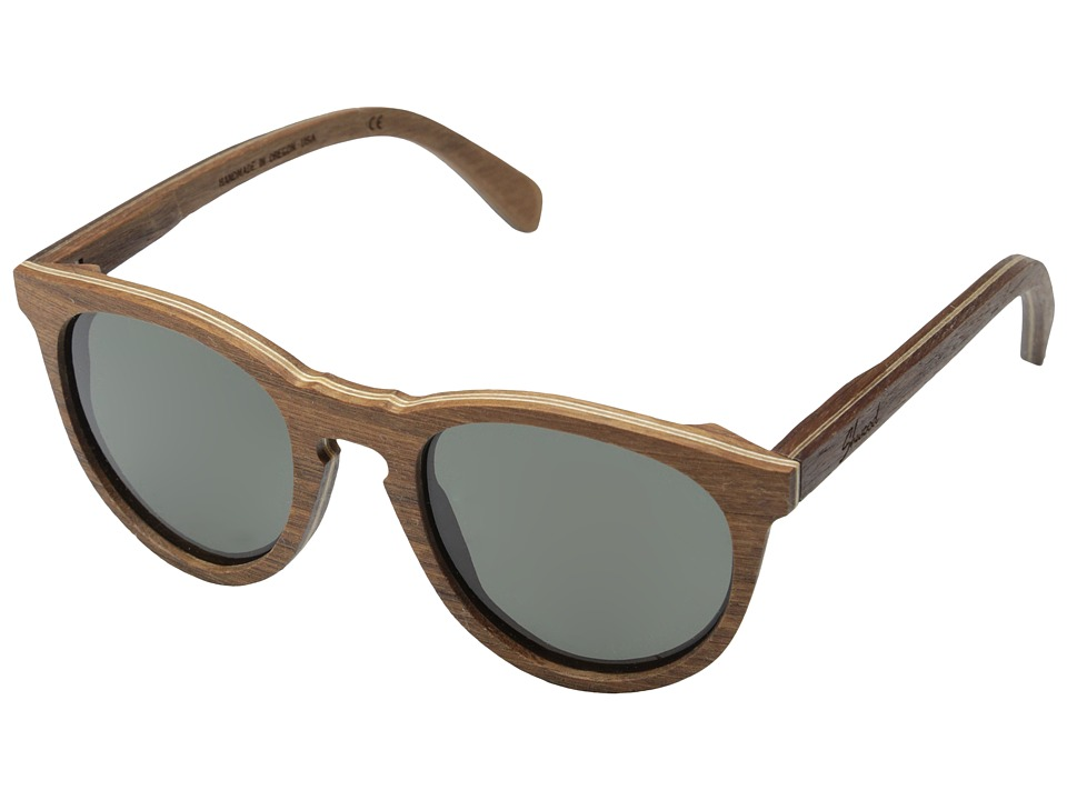 Shwood Belmont Polarized Walnut Grey Polarized Sport Sunglasses