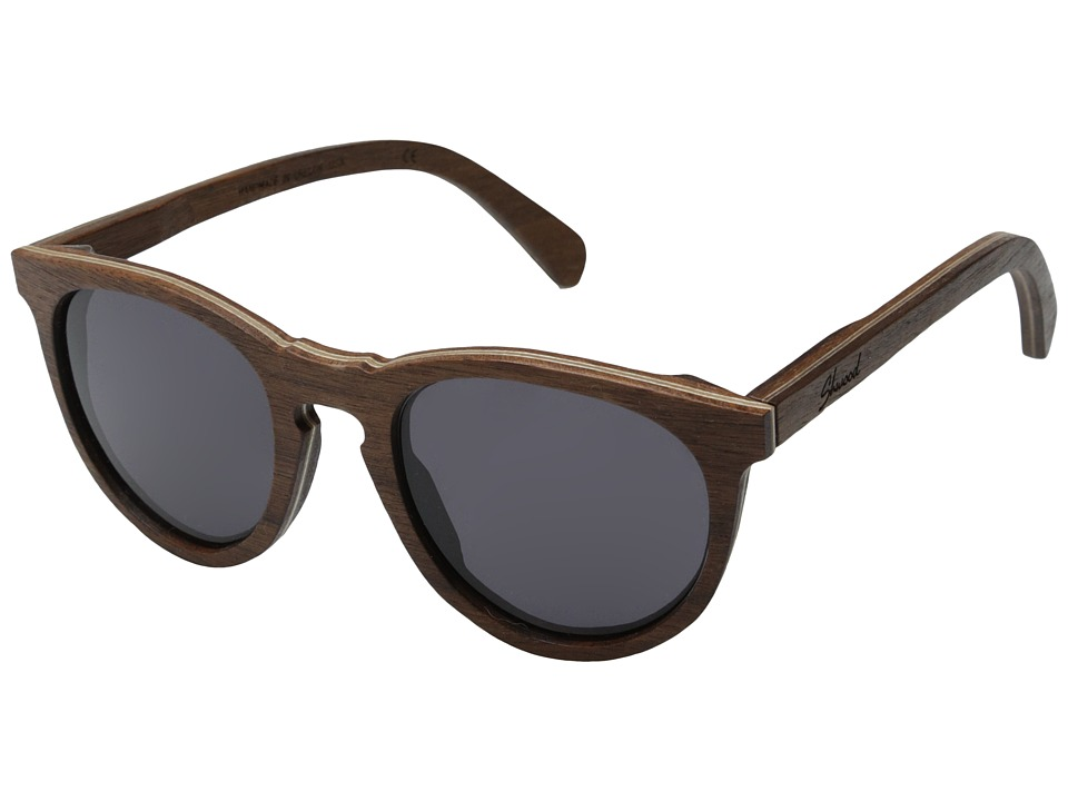 Shwood Belmont Walnut Grey Sport Sunglasses