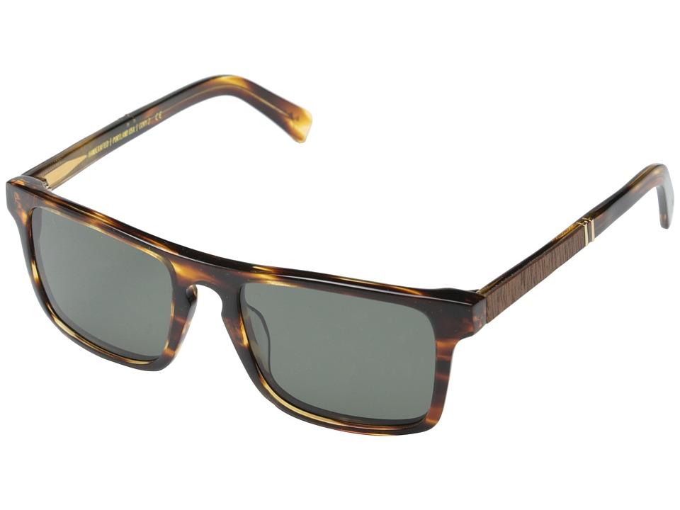 Shwood Govy Fifty Fifty 2 Polarized Tortoise shell // Mahogany Burl Grey Polarized Sport Sunglasses