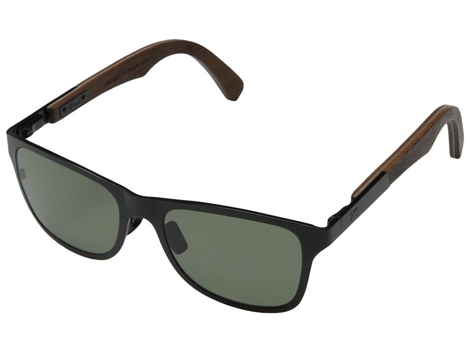Shwood Canby Titanium Polarized Black Titanium// Walnut G15 Polarized Sport Sunglasses
