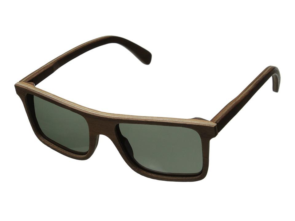 Shwood Govy Polarized Walnut Grey Polarized Sport Sunglasses