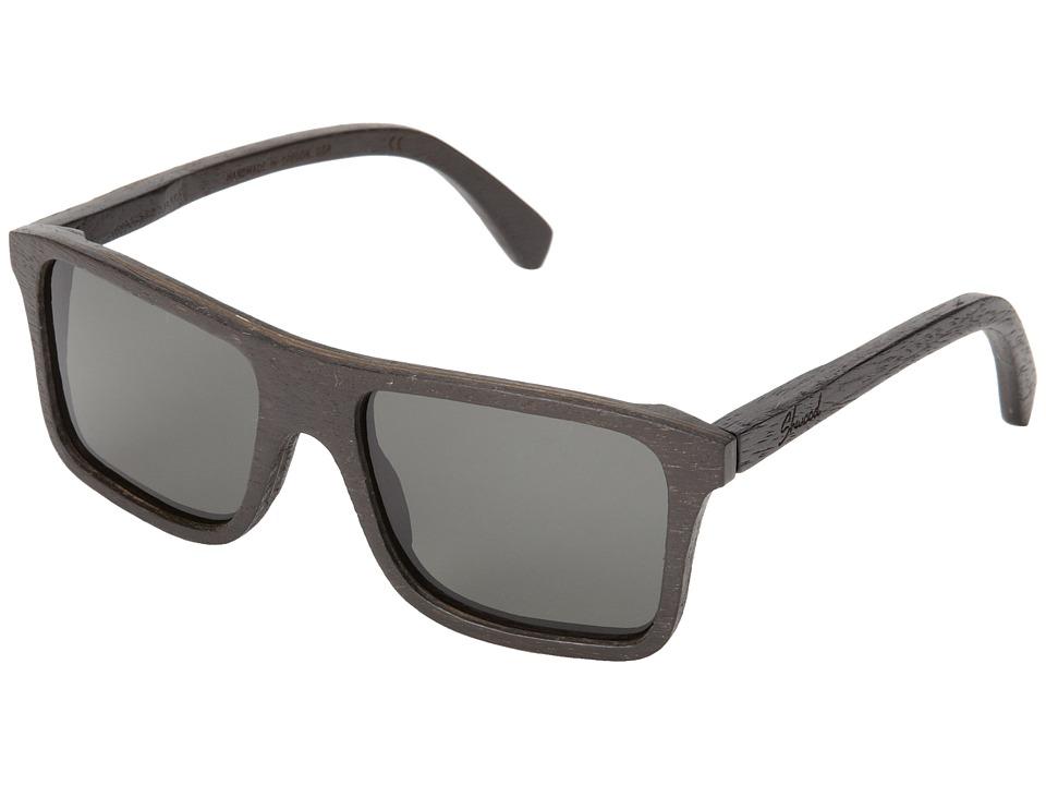 Shwood Govy Polarized Dark Walnut Grey Polarized Sport Sunglasses