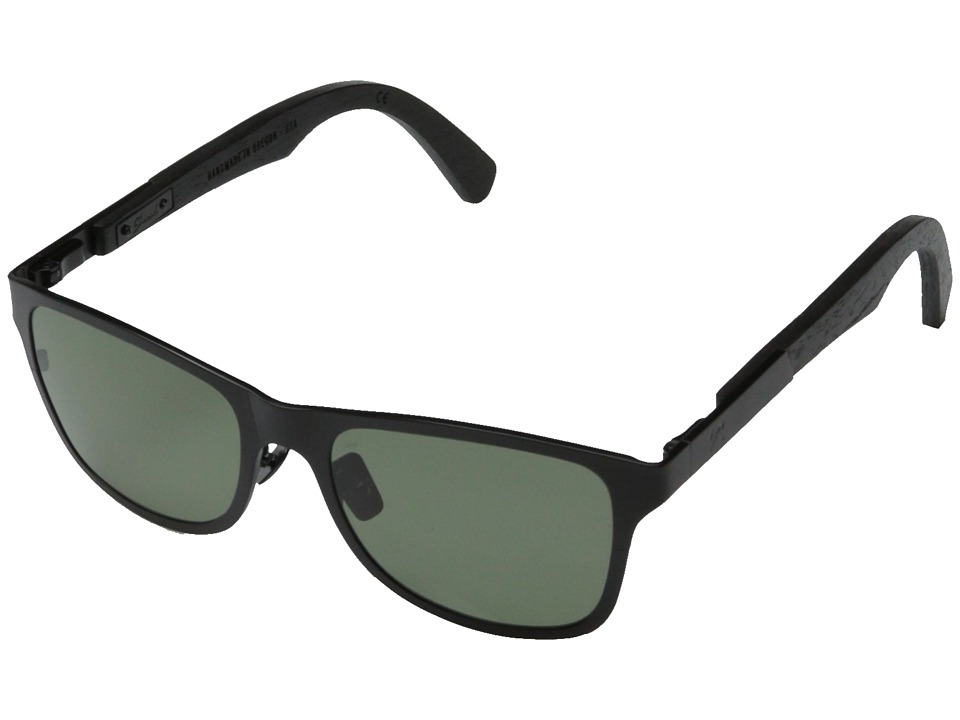 Shwood Canby Titanium Polarized Black Titanium// Dark Walnut G15 Polarized Sport Sunglasses