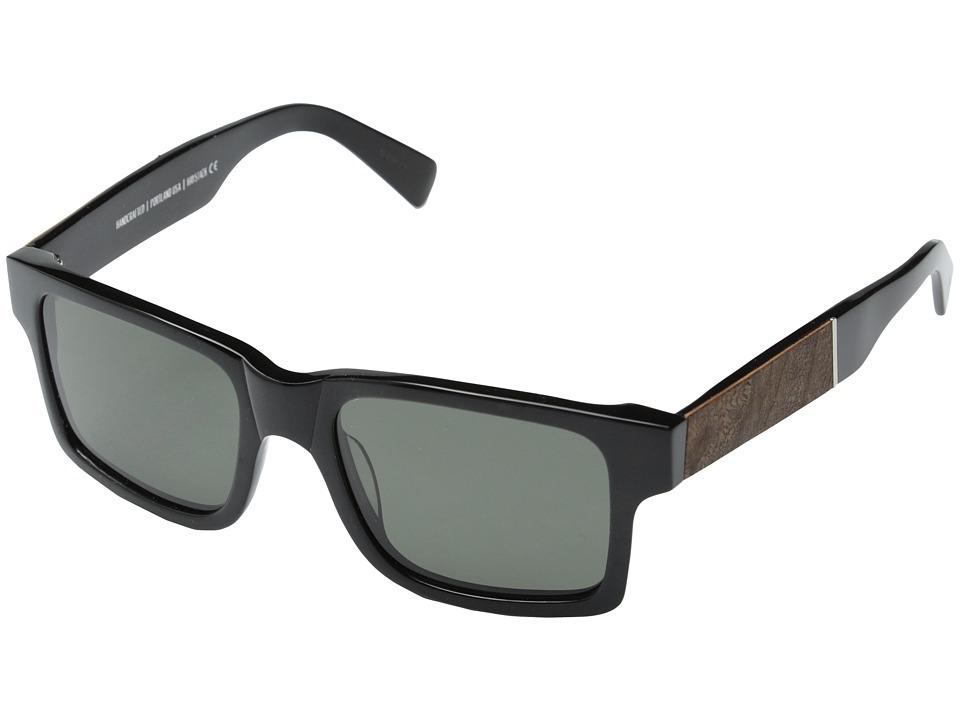 Shwood Haystack Fifty Fifty Polarized Black // Elm Burl Grey Polarized Sport Sunglasses