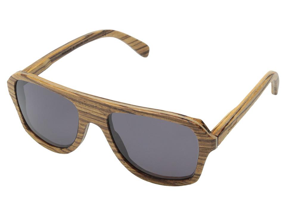 Shwood Ashland Zebrawood Grey Sport Sunglasses