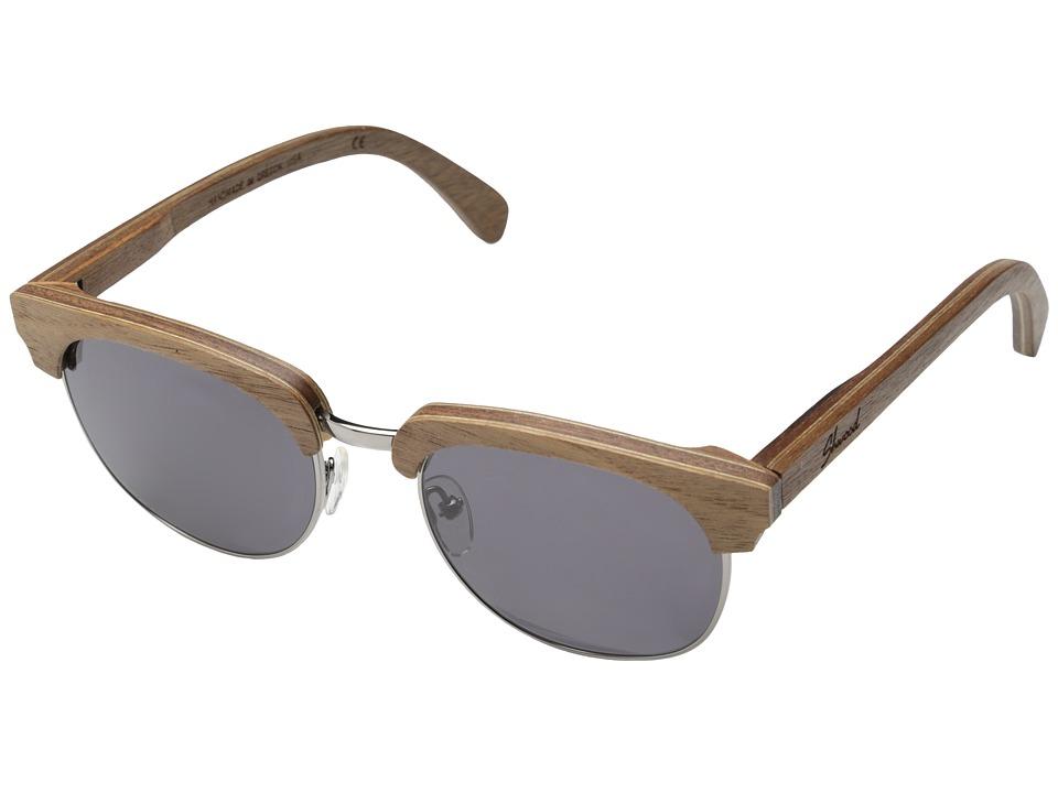 Shwood Eugene Walnut Silver Grey Sport Sunglasses
