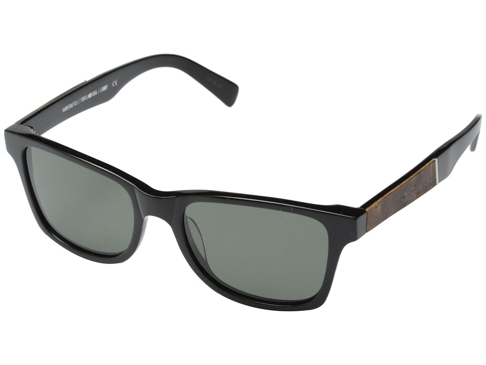 Shwood Canby Fifty Fifty Polarized Black // Elm Burl Grey Polarized Sport Sunglasses