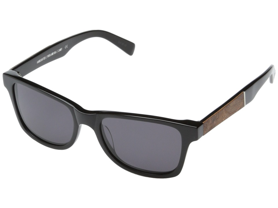 Shwood Canby Fifty Fifty Black // Elm Burl Grey Sport Sunglasses