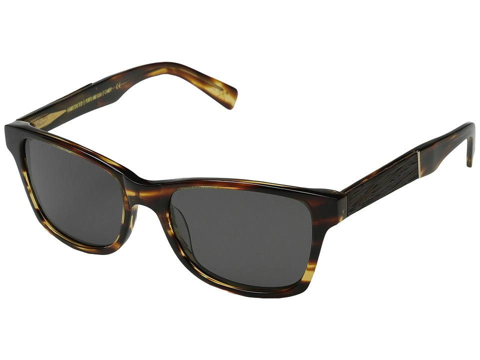 Shwood Canby Fifty Fifty Polarized Tortoise shell // Ebony Grey Polarized Sport Sunglasses