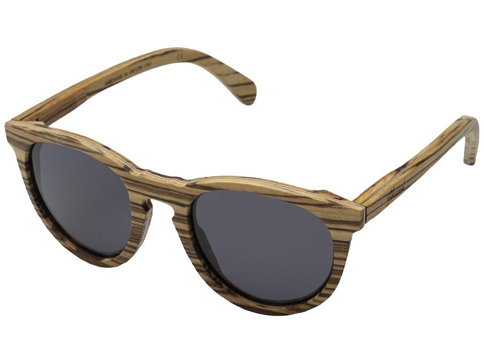 Shwood Belmont Zebrawood Grey Sport Sunglasses