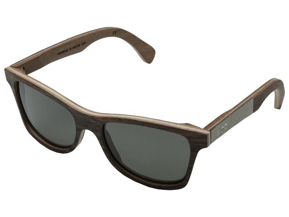 Shwood Canby Stone Collection Polarized Ebony / White Slate Inlay Grey Polarized Sport Sunglasses