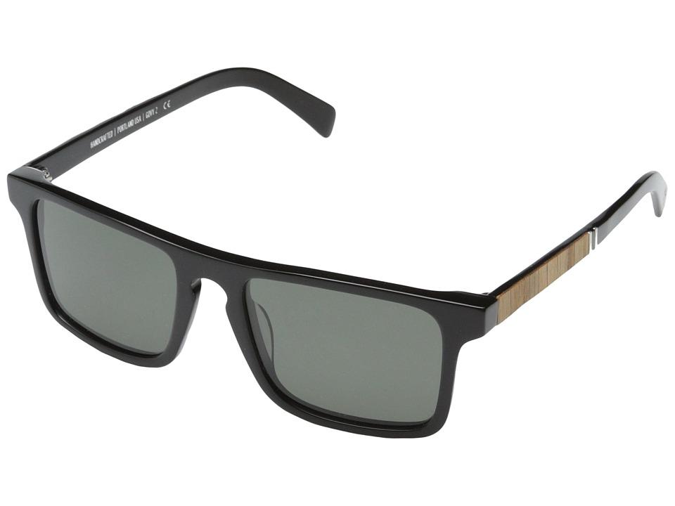 Shwood Govy Fifty Fifty 2 Polarized Black // Oak Grey Polarized Sport Sunglasses