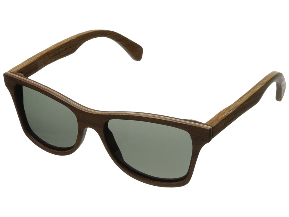 Shwood Canby Polarized Walnut/Oak Temple Grey Polarized Sport Sunglasses