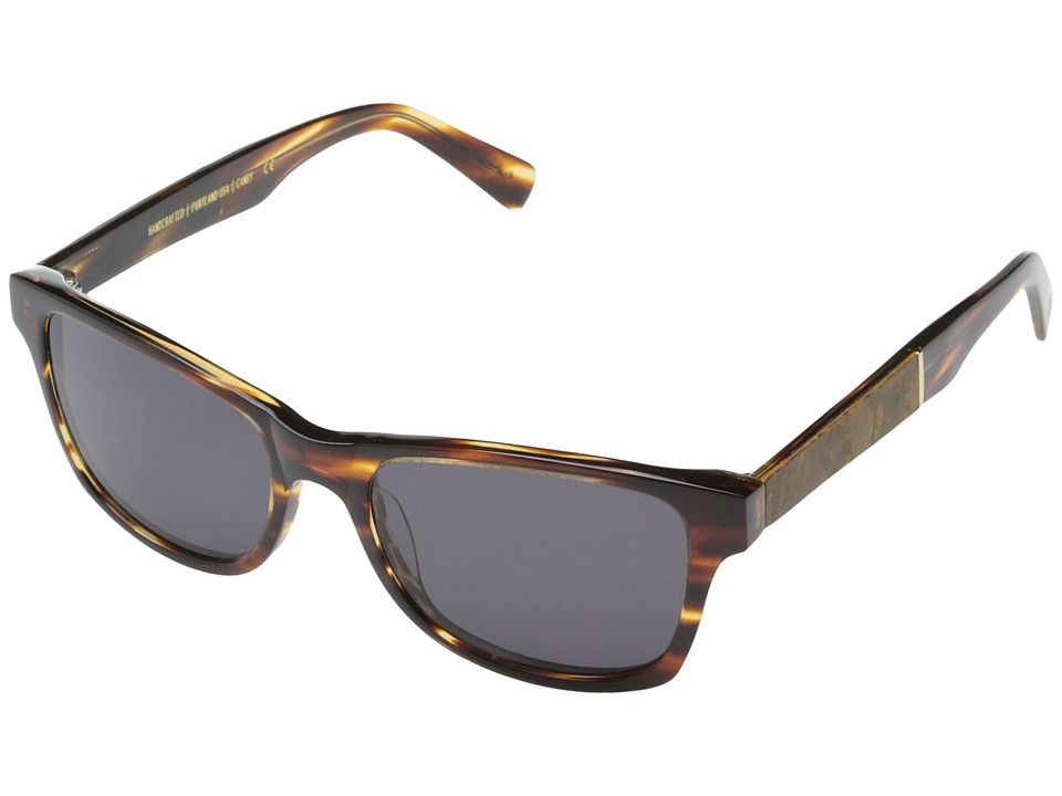 Shwood - Canby Fifty-Fifty (Tortoise shell // Maple Burl - Grey) Sport Sunglasses
