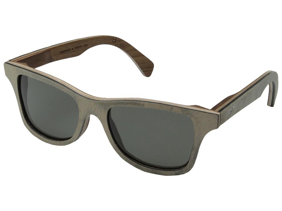 Shwood Canby Stone Collection Polarized White Slate Grey Polarized Sport Sunglasses