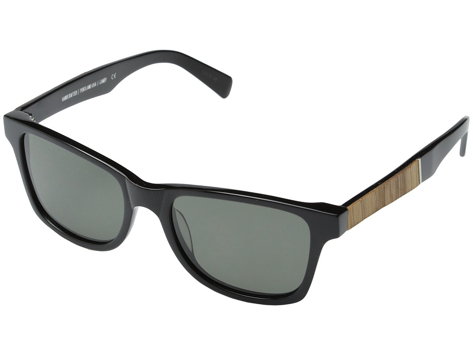 Shwood Canby Fifty Fifty Polarized Black // Oak Grey Polarized Sport Sunglasses