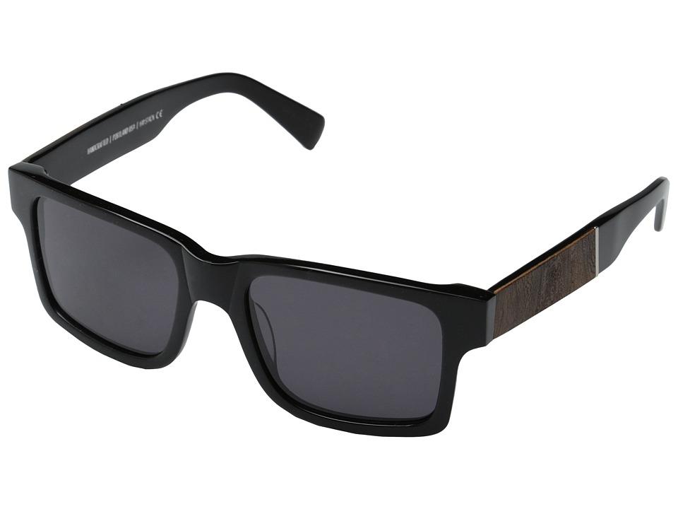 Shwood Haystack Fifty Fifty Black // Elm Burl Grey Sport Sunglasses
