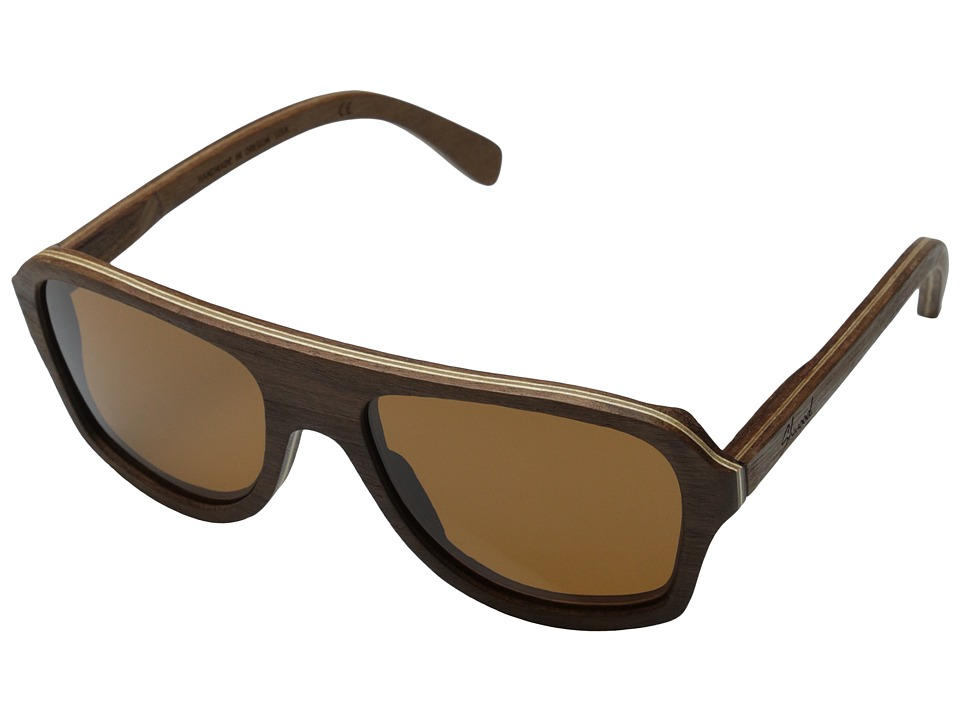 Shwood Ashland Polarized Walnut Brown Polarized Sport Sunglasses