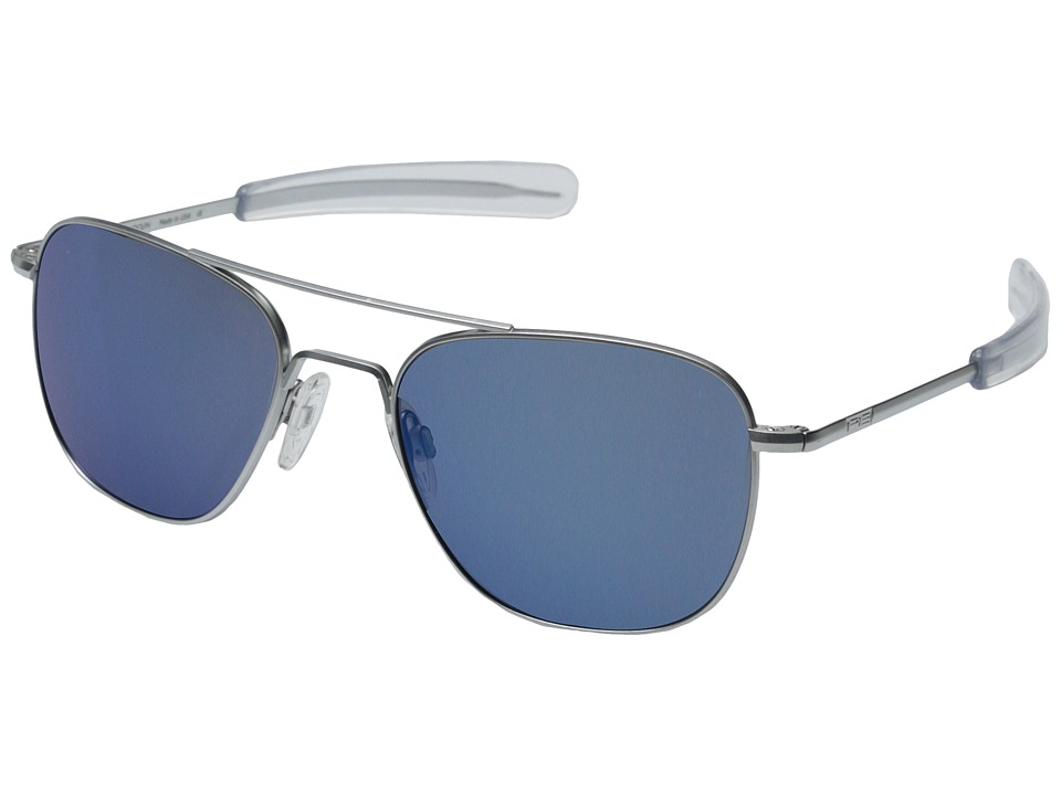 Randolph Aviator 55mm Matte Chrome/Blue Sky Flash Fashion Sunglasses