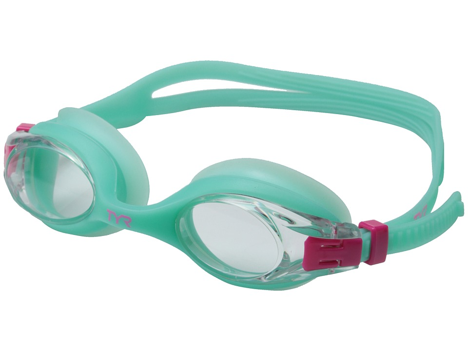 TYR Big Swimple Mirrored Goggles Mint Water Goggles