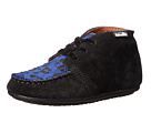 Venettini Kids 55-Esti (Toddler/Little Kid) (Black Suede/Cobalt Cheetah Pony)