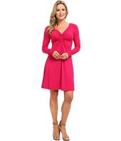 Mod-o-doc - Cotton Modal Shirred Front V-Neck Dress